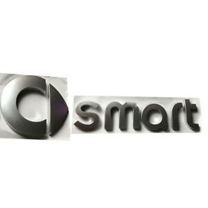 Smart-Logo-Auto-Aufkleber-Emblem-3D-Verchrom-Vorderseite-Kofferraum-Briefe-Badge