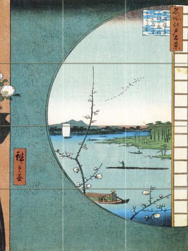 Art Mural Ceramic Backsplash Bath Japanese Decor Tile