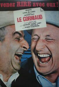 LE CORNIAUD Affiche cinema ROULEE 53x40 Movie Poster Louis de Funès R1990