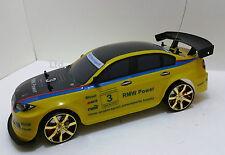 Bmw M3 Sport Estilo 4wd Radio Control Remoto Auto Rc Drift Car 1:10 Escala Niños Juguete
