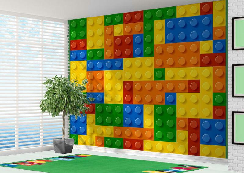 3D Bausteine Spielzeug Ziegel Tapeten Wandbild (12345617) 3D