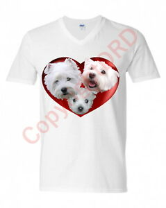West-Highland-Terrier-Tshirt-T-shirt-Crew-Neck-V-Neck-Birthday-Gift-Westie-Tee