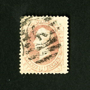 US-Stamps-166-VF-Large-Stamp-Pale-Red-Shade-Catalog-Value-250-00