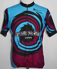 1999 MS TOUR FOR THE CURE MS150 Cycling Jersey Turquoise XL Houston to Austin