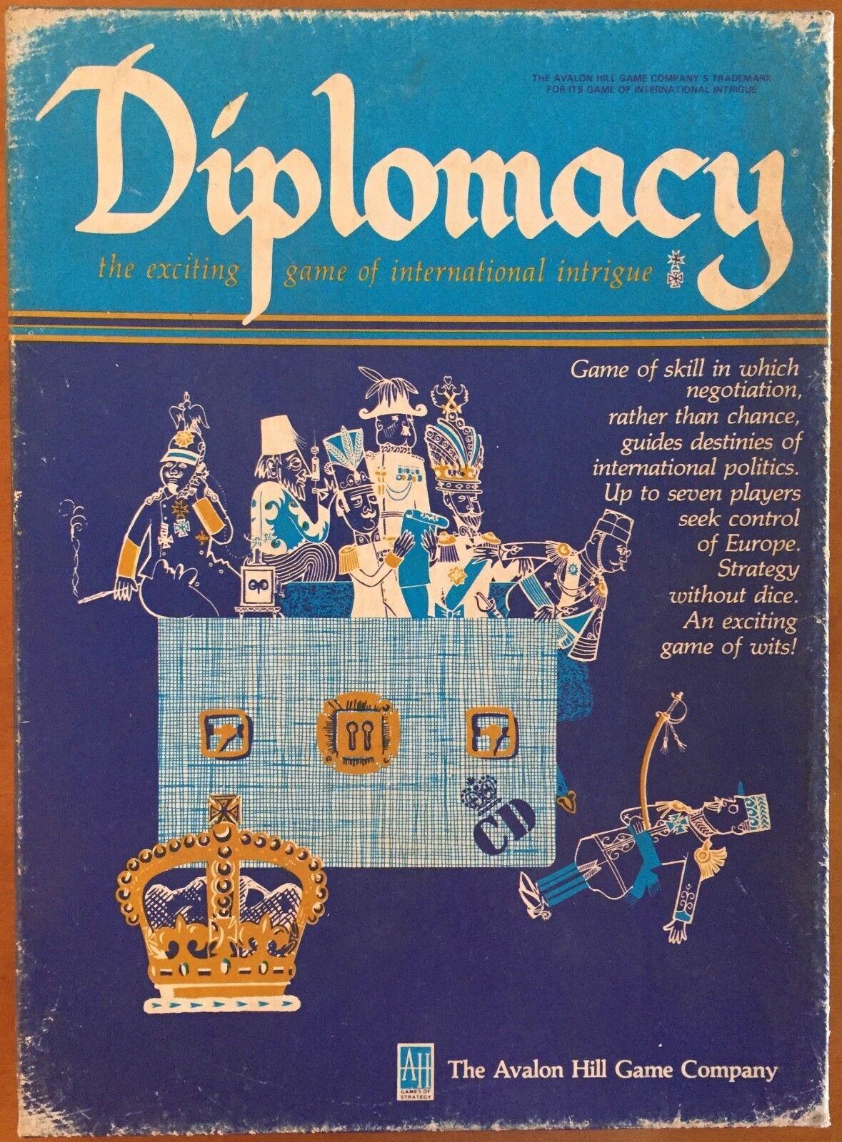 Diplomacy - Avalon Hill 1976 - Eccellente - Mai giocato - b)