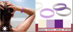 Bracciale che cambia colore in presenza di raggi UV