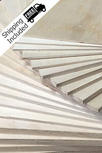 "BALTIC BIRCH PLYWOOD 1/8"" (3mm) BY APPROX 12"" X 12"" - 20 PIECES"
