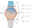Ombre-Women-039-s-Wrist-Watch-Rose-Gold-Steel-Case-Leather-Band-Bracelet-Ladies-Gift miniature 4