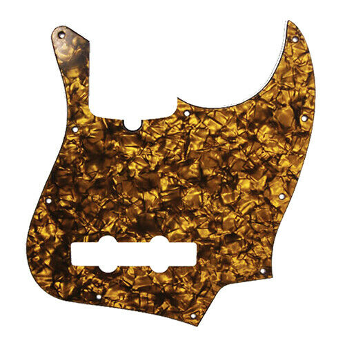 D/'Andrea 4-Ply 10-Hole Jazz Bass Pickguard Gold Pearl