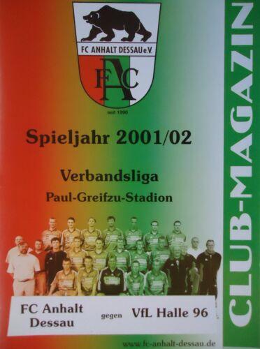 VfL Halle 96 Programm 2001/02 FC Anhalt Dessau Fußball