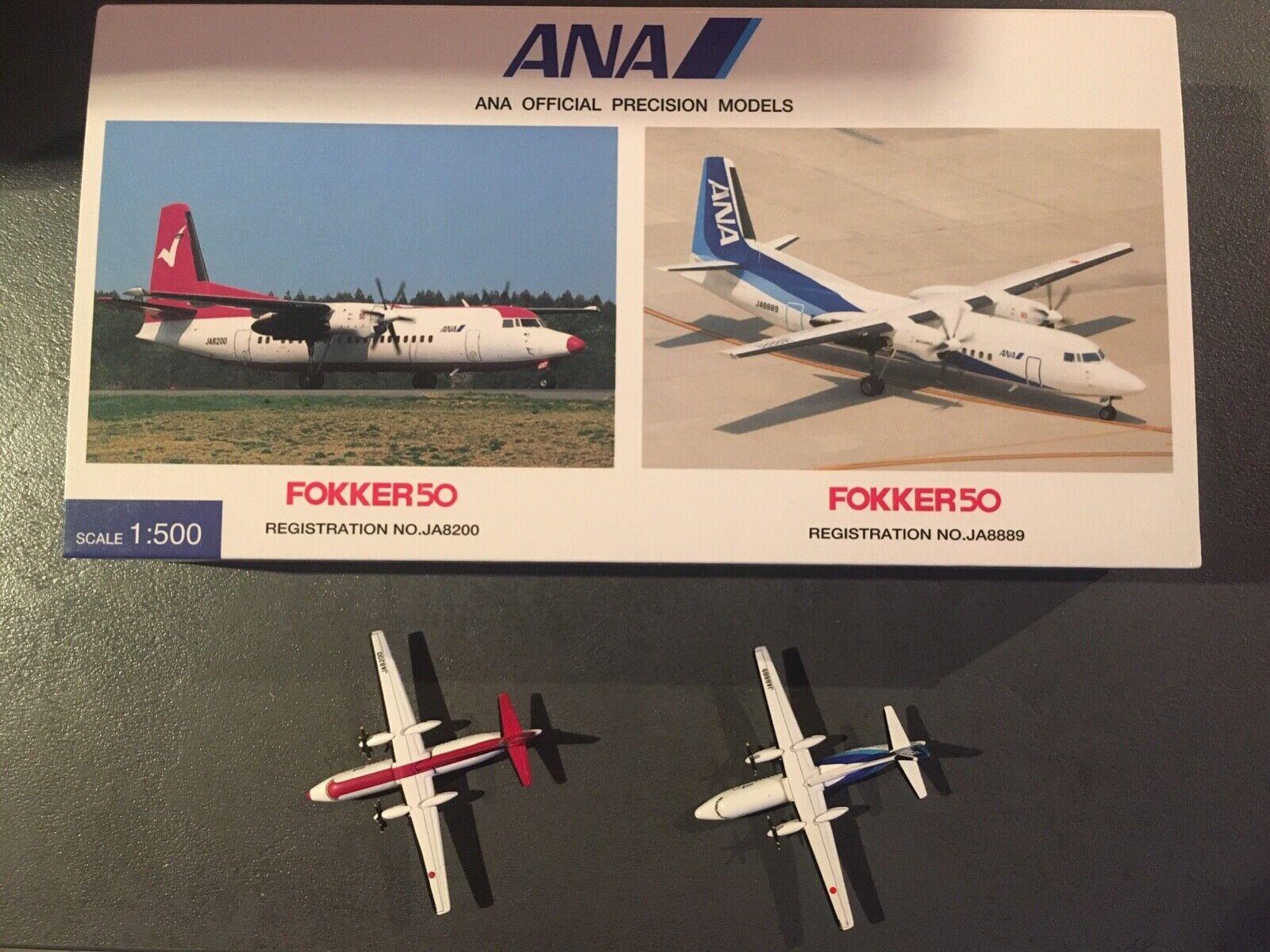 Hogan 1 500 - ANA All Nippon Airways - Fokker 50 - 2er Set - stark limitiert