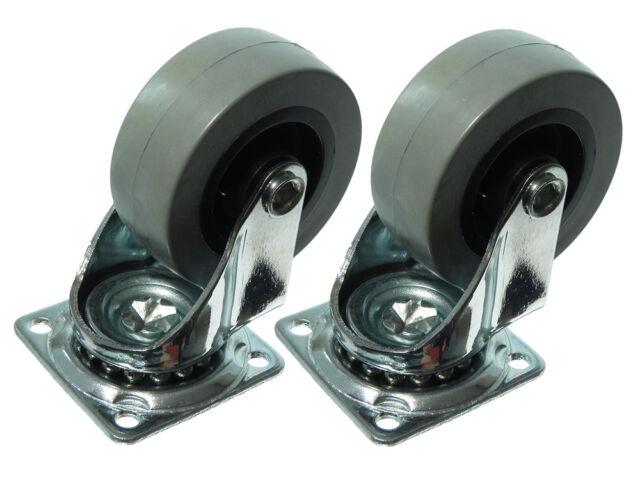 50mm Plate Fix Single Caster Dolly Wheel Heavy Duty Swivel 24 Castors