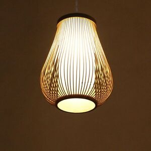 Details About High Quality Rattan Cage Bamboo Ceiling Pendant Lamp Chandelier Light Fixtures