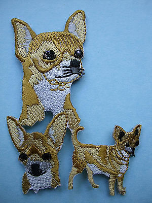 IRON-ON EMBROIDERED PATCH - CHIHUAHUA #2 - DOG