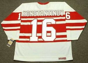 Image is loading VLADIMIR-KONSTANTINOV-Detroit-Red-Wings-1992-CCM-Vintage- 81d3fc443