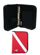 Trident Scuba Diving Dive Log Book 6 Ring Binder with Inserts RED DIVE FLAG