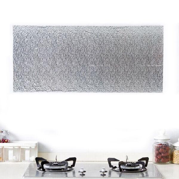 Aluminum Foil Self Adhesive Waterproof Wallpaper for Kitchen Backsplash Dinner t