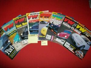 8-VINTAGE-COLLECTIBLE-ISSUES-OF-VW-TRENDS-MAGAZINE-VOLKSWAGEN-BUG-KARMANN-1998
