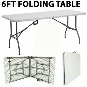 1.8 M 6 FT environ 1.83 m Cuisine Camping Heavy Duty table pliante Chevalet Picnic Party BBQ