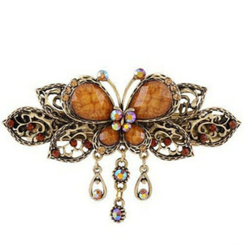 Hollow Out Hair Pin Butterfly Gemstone Retro Pendant for Ladies Favor Gifts one