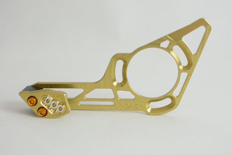 BPP ISCG 36t - 42t chainguide  CNC   nuevo   oro  hecho En Alemania