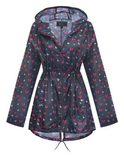 Shelikes New Ladies Womens Butterfly Raincoat Summer Festival Rain Mac