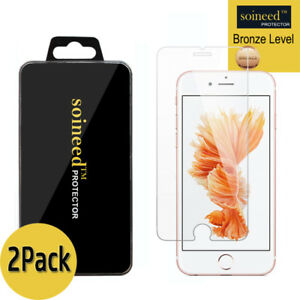[2-Pack] SOINEED iPhone 6s / 6s Plus Tempered GLASS Screen Protector Bubble Free