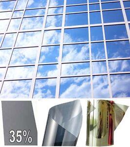 film miroir sans tain solaire teint transparent anti effraction vitre fen tre ebay. Black Bedroom Furniture Sets. Home Design Ideas