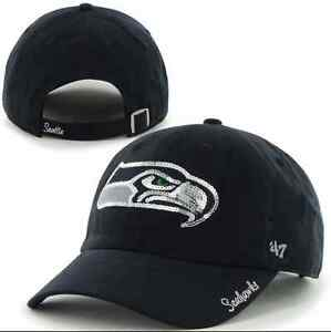 f94bc434c NFL Seattle Seahawks Women s  47 Brand Sparkle Team Color Clean Up ...