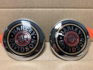 Harley-Davidson-Fuel-Tank-Emblem-FLHTCU-Pair-14644-97-amp-14645-97
