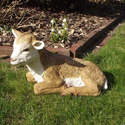 Gartenfigur Ziege 3905 Haus Garten Deko lebensecht Figur