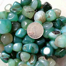 50g Natural Green Agate Stone Fish Tank Buddha Potted Home Garden Decoration