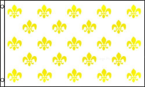 Fleur De Lis White Multiple Historical Flag 3x5 Polyester