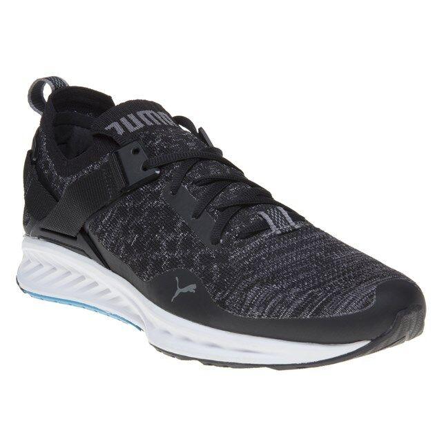 New Hommes Puma noir IGNITE evoKNIT Lo Textile Baskets Style de course à lacets-