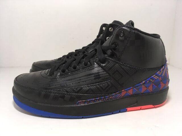 Nike Air Jordan 2 Retro GS BHM Black Blue CI2972-007 Youth Shoes Size 6.5Y