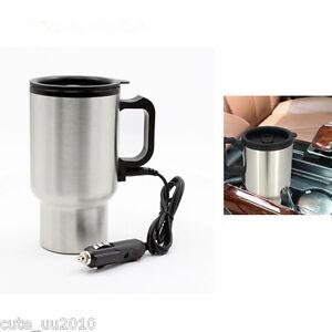 Image Is Loading Car Stainless Steel Travel Coffee Mug 12v Heated