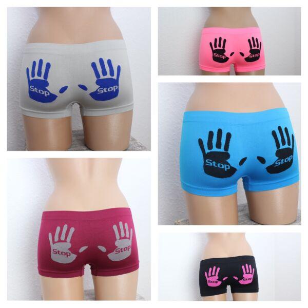 3er/4er Pack sexy Boxershorts Damenunterwäsche Hände am Po S-XL Slips Hipster