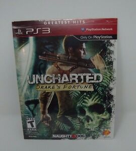 Uncharted-Drake-039-s-Fortune-Playstation-3-NEW-SEALED-PS3-DOWNLOAD-CARD-CODE