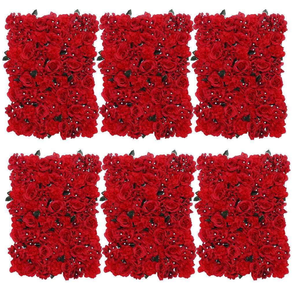 6x élégante bleumenwand rosenwand Fleurs Arrière-plan pour mariage et