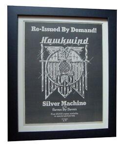 HAWKWIND-Silver-Machine-POSTER-AD-RARE-ORIGINAL-1978-FRAMED-EXPRESS-GLOBAL-SHIP