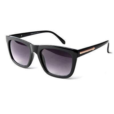 NEW Mens Women Retro Fashion Sunglasses Gold Arrow Black