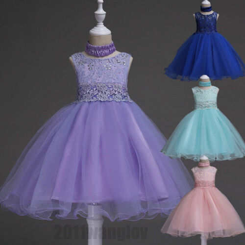 Baby Flower Girls Kids Bridesmaid Gown Princess Party Formal Wedding Tutu Dress