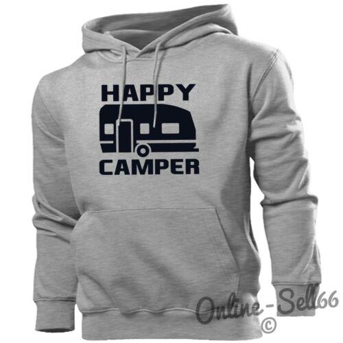 Happy Camper drôle Sweat à capuche van Camping-car Caravane Sweat à Capuche Top Hommes Femmes