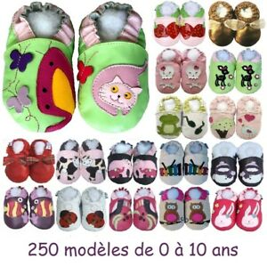 371db2b6ed86b 250 modèles de chaussons en cuir souple Bébé enfant Fille de 0 à 10 ...