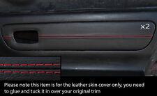 Rojo Stich 2x Puerta Tarjeta Ribete Cuero Skin cubre encaja Toyota Mr2 Mk3 2000-2007