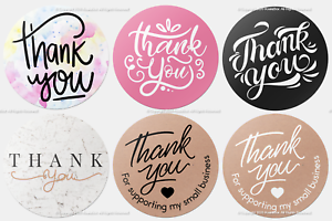 X100 Thank You Stickers For Your Purchase Business Labels Round Heart Wedding Ebay
