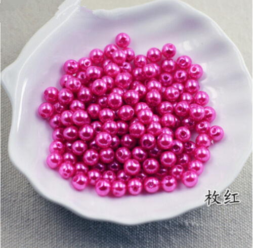 Wholesale 6-14mm With Holes  ABS Pearl Round Acrylic Beads Spacer Jewelry Making