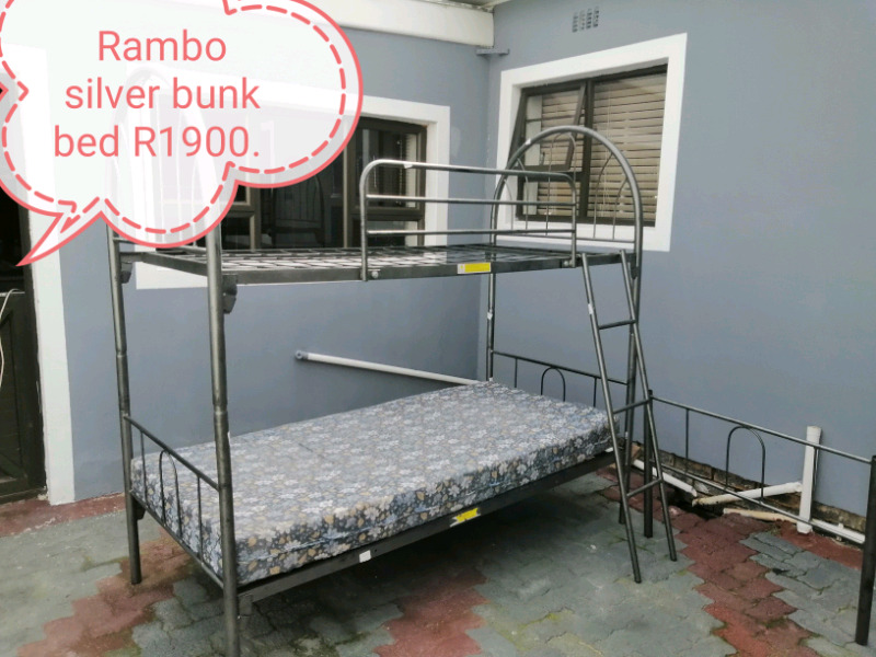 Rambo bunk bed silver for sale