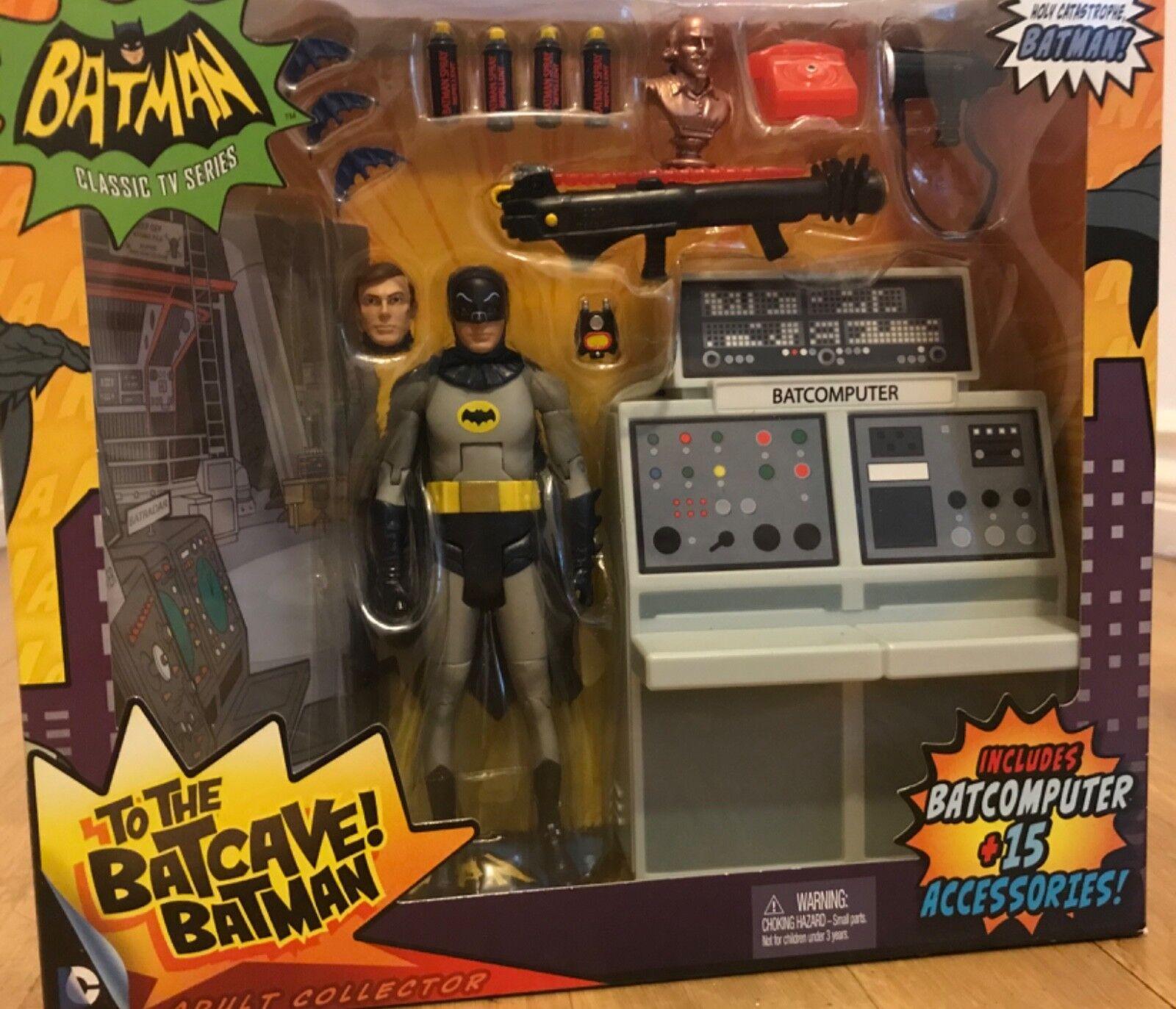 Batman Classic Tv Series To The Batcave Adam West Action Figure.1966 Mattel