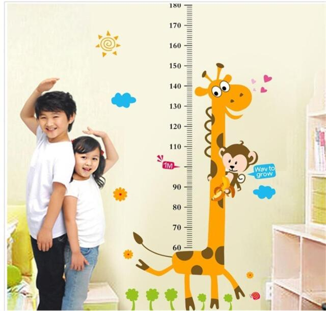 removable height chart measure wall sticker decal for kids baby room
